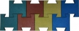 Плитка 240х240х25 резиновая «ЛАСТОЧКИН ХВОСТ»