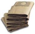 Бумажные фильтр-мешки для пылесосов серии (WD 3.200, 3.300, 3.500, SE 4001, 4002, MV 3 P) 5шт/упак