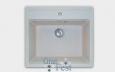 «Quadro» GF-Q560, 1 секционная мойка с отверстием под смеситель