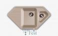 «Corner», GF-C950E, 2 секционная мойка с отверстием под смеситель