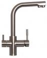 Кран питьевой комбинированный цвет полумат. никель A-0212-NP (LED)