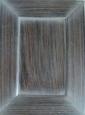 Фасад: шпон эбен + спецэффект патина белая
