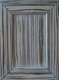 Фасад: шпон зебрано, покрытие - патина белая + лак