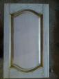 Фасад: массив дуба, спецэффект - патина золото + лак