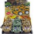 Игрушка с драже «Военный танк» 12шт (12шт)
