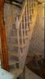 Деревянная лестница с забежными ступенями, сосна (сорт А)