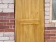 Дверь деревянная входная, уличная с утеплителем, 80х195см