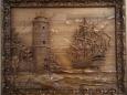 Панно деревянное резное П-1 «Маяк»