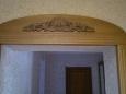 Арка деревянная, односторонняя с резными элементами
