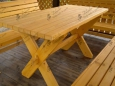 Стол деревянный А-2, 80х150см