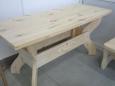 Стол деревянный А-8, 68х160х78см
