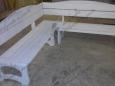 Лавочка деревянная угловая Л-12, 180х45 см