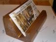 Подставка для визиток П-2-1, 6х4х10 см, коричневая