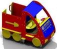 Игровое оборудование «Машинка», красный корпус, 2220х1420х1790мм
