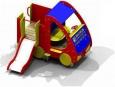 Игровое оборудование«Машинка с горкой», 2220х1420х1790мм, Нгорки=600мм