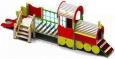 Игровое оборудование«Паровозик с вагончиком», корпус красно-желтый, 6550х1580х2450мм