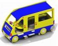 Игровое оборудование «Автобус», 3200х1300х1800мм
