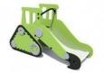 Игровое оборудование «Трактор-горка», корпус зеленый,Hгорки=600мм 2420х1220х600м