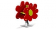 Качалка на пружине «Цветочек», 770х470х800мм, 1-пружина