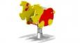 Качалка на пружине «Носорог»,1000х500х900мм, 1-пружина
