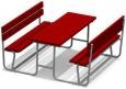 Стол со скамьями, 1790х1640х720мм