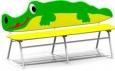 Скамейка «Крокодил», 1838х693х830мм