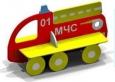 Скамейка «Пожарная машина», 1550х625х935мм