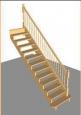 Лестница П-1, прямая