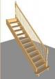 Лестница П-2, прямая