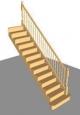 Лестница П-3, прямая