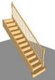 Лестница П-4, прямая