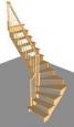 Лестница Г-1, Г-образная