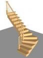 Лестница Г-2, Г-образная