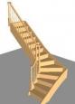 Лестница Г-4, Г-образная