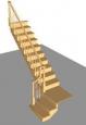 Лестница Г-2 с площадкой