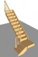 Лестница Г-3 с площадкой