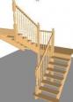 Лестница По-1, П-образная