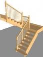 Лестница По-2, П-образная