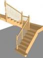 Лестница По-3, П-образная