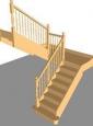 Лестница По-4, П-образная