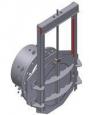 Глубинный затвор AWTek RXF с круглым сечением для фланцевого крепления4-х стороннее уплотнение