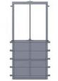 Глубинный затвор AWTek RXQ с прямоугольным сечением для крепления на стену4-х стороннее уплотнение