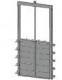 Глубинный затвор c прямоугольным сечением