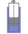Поверхностный затвор AWTek CP-LTпрямоугольного сечения с подвижным водосливомдля крепления на стену
