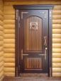 д5 Кованые накладки на двери с колотушкой и ручкой