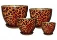 Горшки цветочные керамические в наборе Нова Леопард