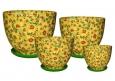 Горшки цветочные керамические Нова Подсолнух