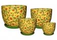 Горшки цветочные керамические Барилка Подсолнухи
