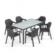 Мебель: набор большой стол + 6 стульев