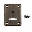 Накладка Апекс DP-S-01-AB-shutter (сувальдный ключ) бронза со шторкой